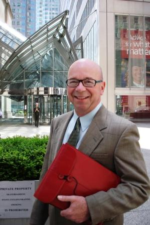 Joe Grasmick, the U.S. immigration lawyer for Canadians, working in nearby downtown Toronto